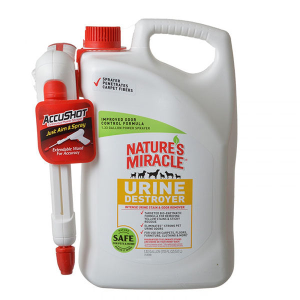 Nature's Miracle Urine Destroyer - 1.33 Gallon AccuShot Power Spray Bottle
