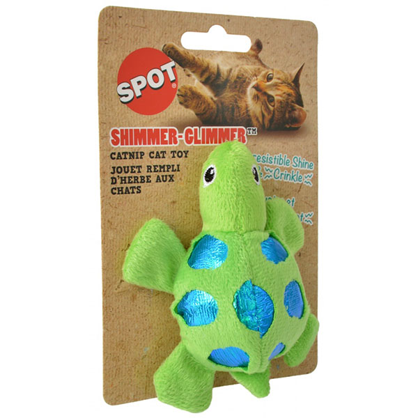 Spot Shimmer Glimmer Turtle Catnip Toy - Assorted Colors - 1 Count - 5 Pieces