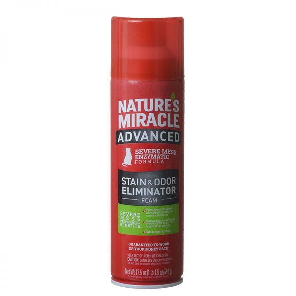Nature's Miracle Just for Cats Advanced Enzymatic Stain and Odor Eliminator Foam - 17.5 oz - 2 Pieces