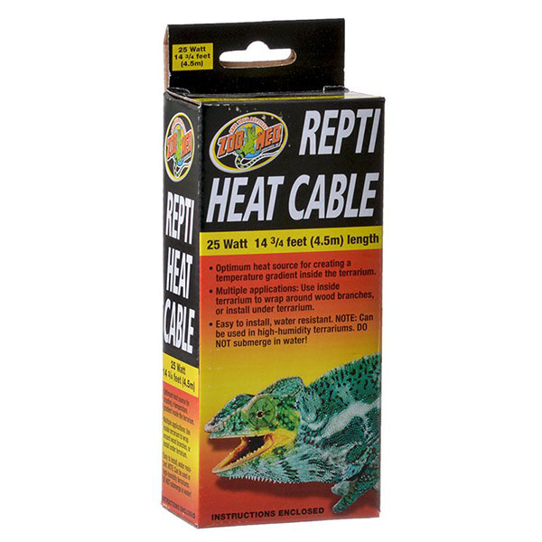 Zoo Med Repti Heat Cable - 25 Watts - 14.75 in. Long