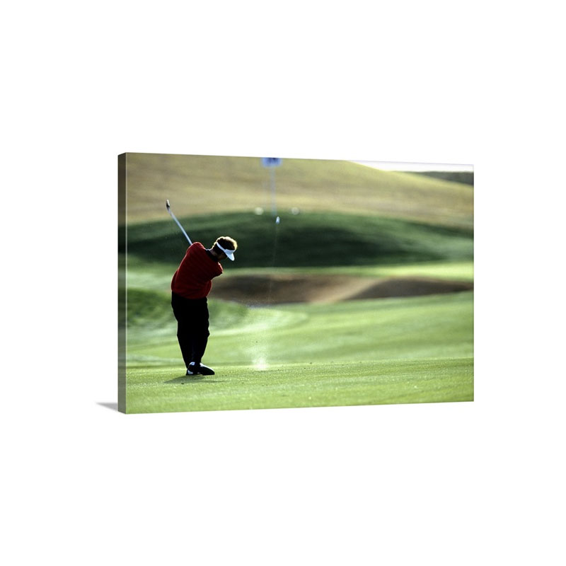 Golfer In Action Wall Art - Canvas - Gallery Wrap