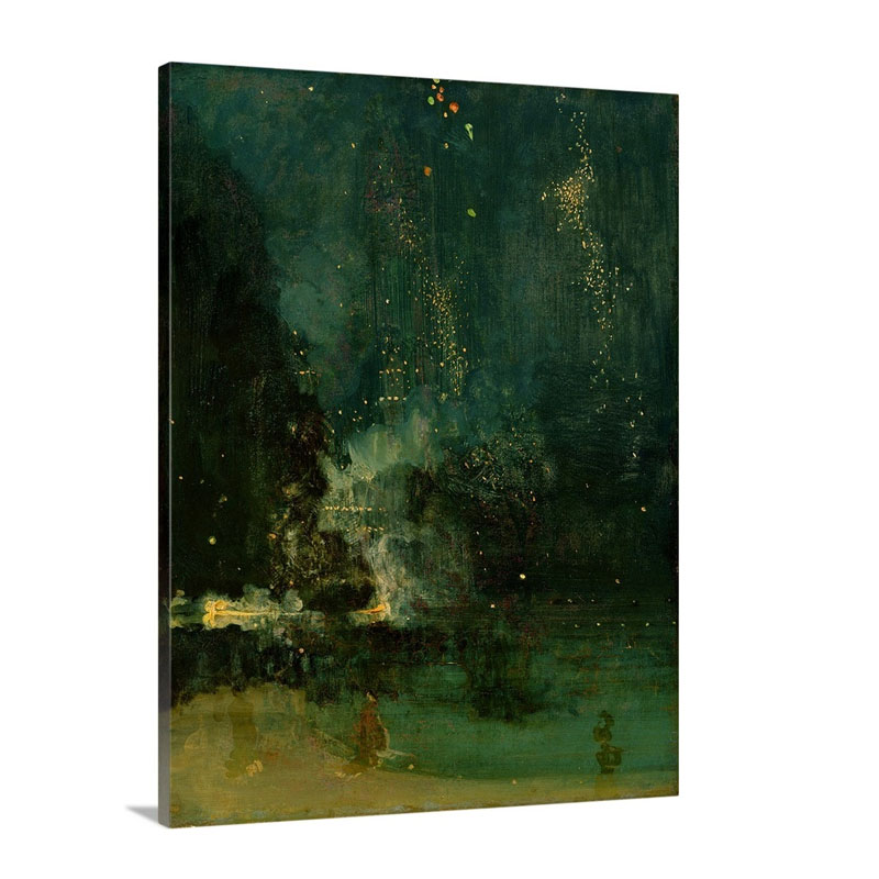 Nocturne In Black And Gold The Falling Rocket C 1875 Wall Art - Canvas - Gallery Wrap