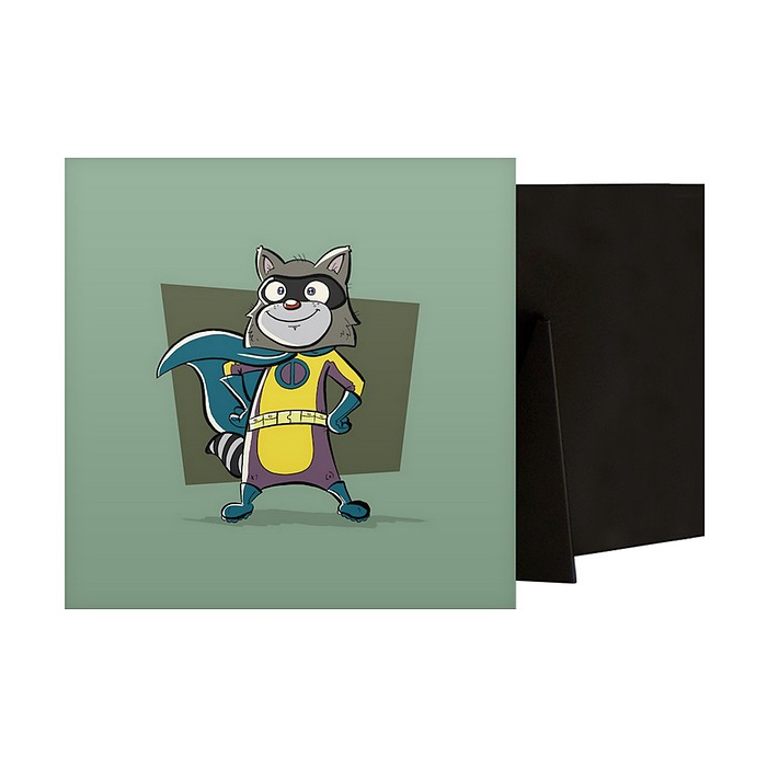 Raccoon Superhero Animal Art