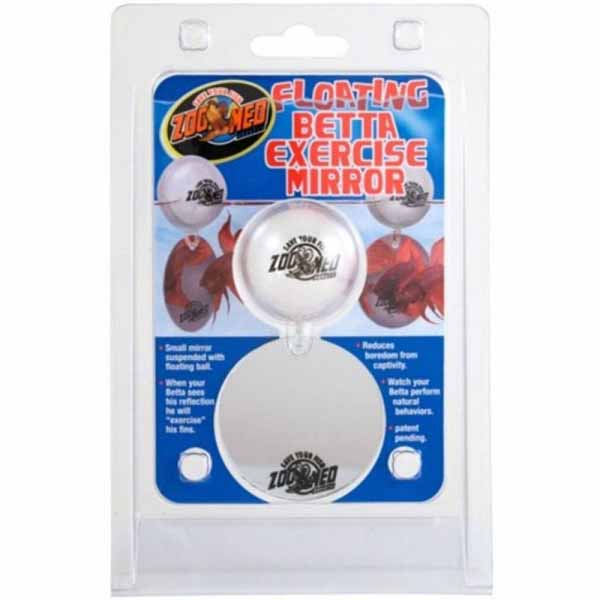 Zoo Med Aquatic Floating Betta Exercise Mirror - Floating Betta Mirror - 2 Pieces