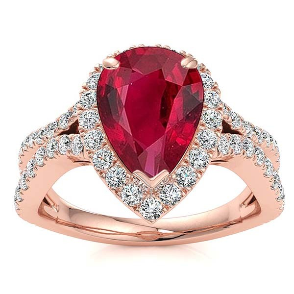 Jasmine Ruby Ring - Rose Gold