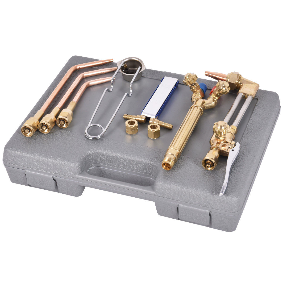 10 Pcs Gas Welding And Cutting Kit Torch Acetylene Welder Tool Set With Case