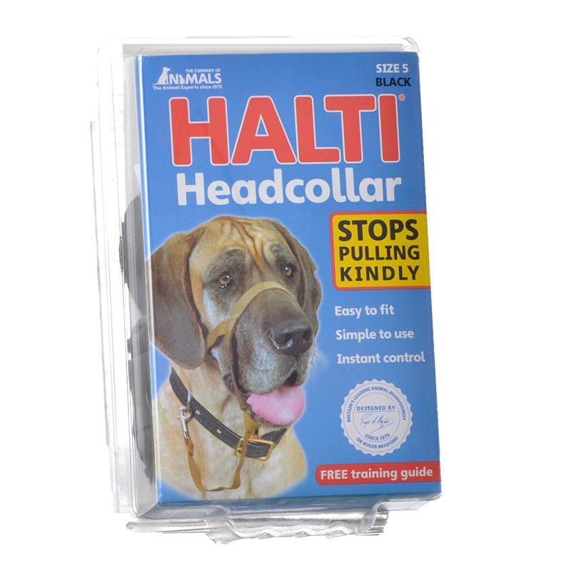 Halti Original Headcollar for Dogs Black - Size 5 - X-Large Dogs