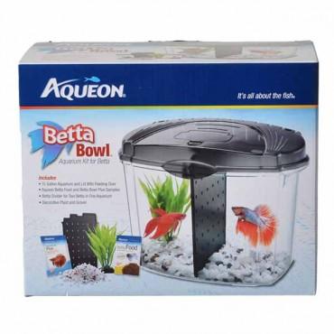 Aqueous Betta Bowl Starter Kit - Black - .5 Gallon