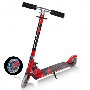 Folding Aluminum Kids Kick Scooter With LED