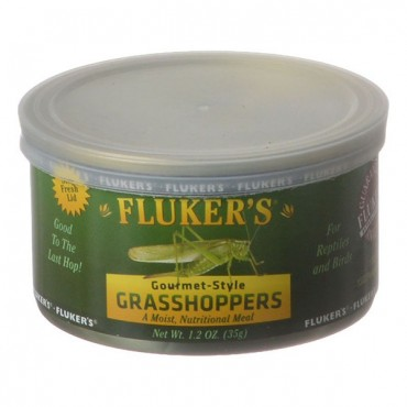Flukers Gourmet Style Canned Grasshoppers - 1.2 oz - 2 Pieces