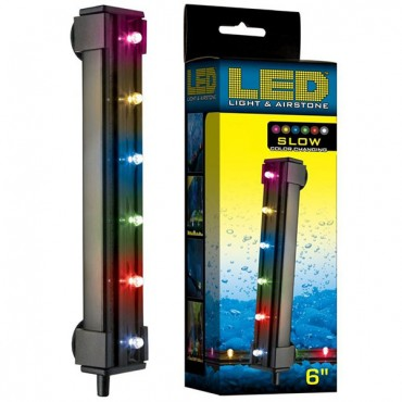 Via Aqua LED Light and Air stone Slow Color Changing - 1.8 Watts - 6 in. Long - 6 Multi color LED's