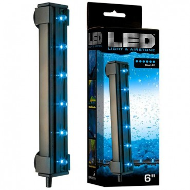 Via Aqua Blue LED Light & Air stone - 1.8 Watts - 6 in. Long