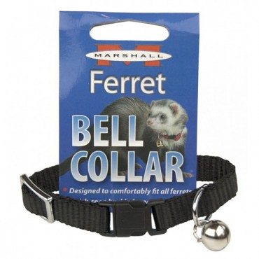 Marshall Ferret Bell Collar - Black - 1 Count - 2 Pieces