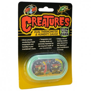 Zoo Med Creatures Dual Thermometer and Humidity Gauge - 1 Count - 2 Pieces