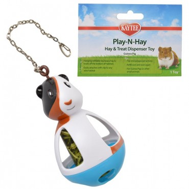 Kaytee Play-N-Hay Hay & Treat Dispenser Guinea Pig Toy - 1 Count - 3 Pieces