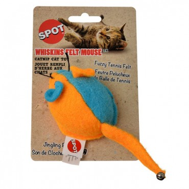 Spot Whiskins Felt Mouse with Catnip - Assorted Colors - 1 Count - 5 Pieces