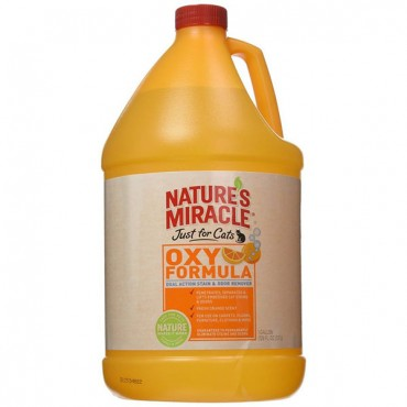 Nature's Miracle Just for Cats Stain & Odor Remover - Orange Oxy Power - 1 Gallon