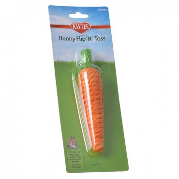 Kaytee Bunny Flip'N' Toss Toy - 1 Pack - 1.25 in. L x 1.25 in. W x 6 in.H - 3 Pieces