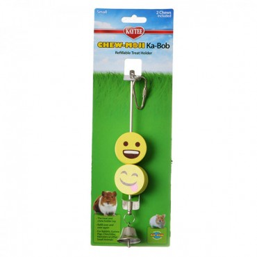 Kaytee Chew-Moji Kabob Refillable Treat Holder - 1 Pack - 2 Chews Included - 3 Pieces
