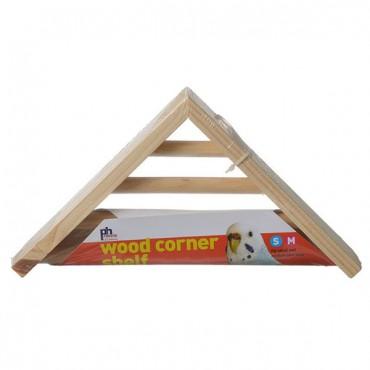 Prevue Wood Corner Shelf - 1 Pack - 7 in. L x 7 in. W x 1.5 in. H - 2 Pieces