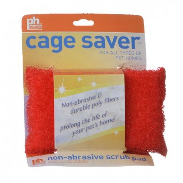 Prevue Cage Saver Non-Abrasive Scrub Pad - 1 Pack - Assorted Colors - 3 Pieces