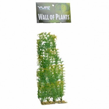 Yup Aquarium Decor Wall of Plants - Yellow and Green - 1 Pack
