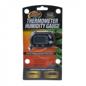 Zoo Med Digital Combo Thermometer Humidity Gauge - 1 Pack