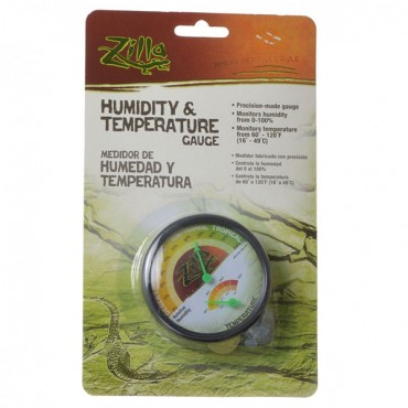 Zilla Humidity and Temperature Gauge - 1 Pack