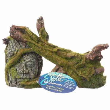 Exotic Environments Moss Covered Ruin and Roots - 10.5 in. L x 4.25 in. W x 6.25 in.H