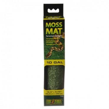 Exo-Terra Moss Mat Terrarium Substrate - 10 Gallon - 19.5 in. L x 9.75 in. W - 2 Pieces