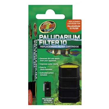 Zoo Med Paludarium Replacement Filter Cartridge - 10 Gallons - 2 Pieces