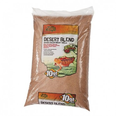 Zilla Desert Blend Ground English Walnut Shells Reptile Bedding - 10 Quarts