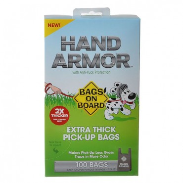 Bags on Board Hand Armor Extra Thick Pick-Up Bags - 100 Bags 2 Pieces