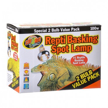 Zoo Med Repti Basking Spot Lamp Replacement Bulb - 100 Watts - 2 Pack