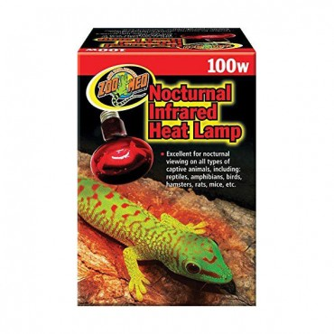 Zoo Med Nocturnal Infrared Heat Lamp - 100 Watts