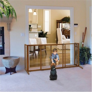 Deluxe Freestanding Pet Gate Large