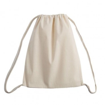 Promotional Cotton Drawstring Backpack - 2 Pieces