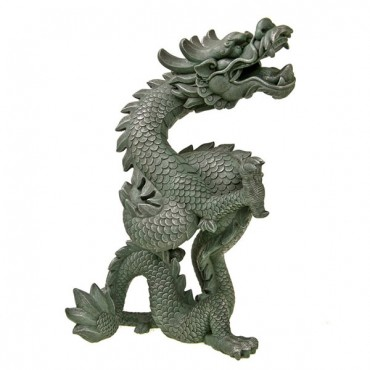 Exotic Environments Oriental Dragon Aquarium Ornament - 10 in. L x 6 in. W x 13.75 in. H