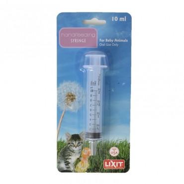Lixit Hand Feeding Syringe for Baby Animals - 10 ml Hand Feeding Syringe - 4 Pieces