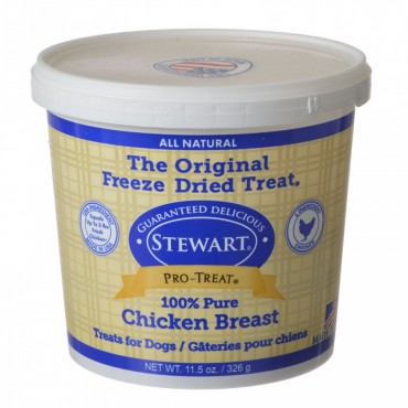 Stewart Pro-Treat Freeze Dried Dog Treats - 100 percent Pure Chicken Breast - 11.5 oz