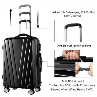 3 Pcs Luggage Set Travel Trolley Suitcase With TSA Lock