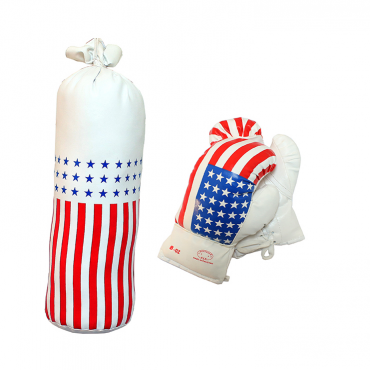 8 oz USA Mini Punching Bag Set