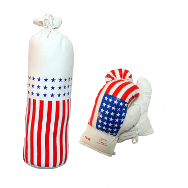 10 oz USA Mini Punching Bag Set