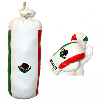 8 oz Mexico Mini Punching Bag Set