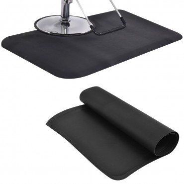 Black Rectangle Barber Salon Floor Mat