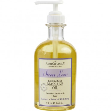 Stress Less - Bath And Body Massage Oil Blend Of Lavender Chamomile And Sage 9 oz