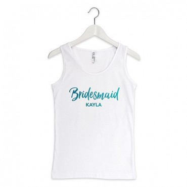 Personalized Bridesmaid Tank Top