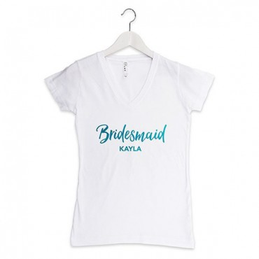 Personalized Bridesmaid T-Shirt