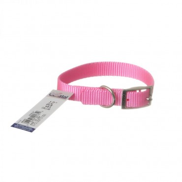Coastal Pet Single Nylon Collar - Bright Pink - 12 Long x 5 8 Wide