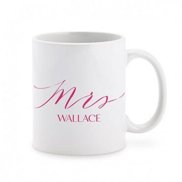 Personalized Coffee Mug - Mrs